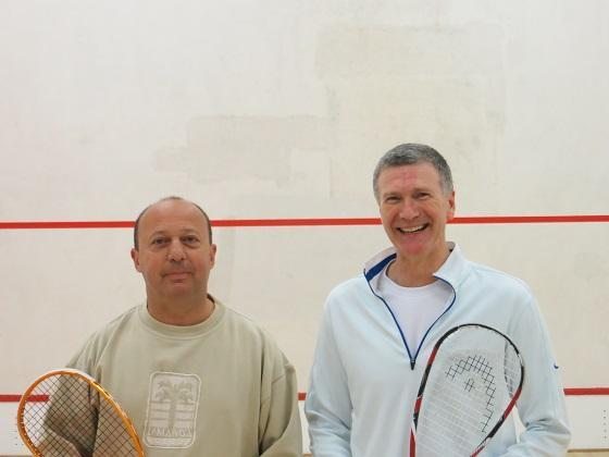 Championship Plate: Paul Redstone (left) 3 – Doug Elliott 0